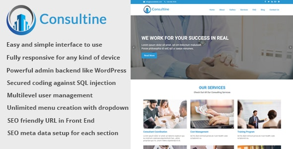 Consultine v1.7 – Consulting, Business and Finance Website CMS